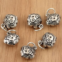 Thailand Sterling Silver Pendants, Sheep, 10.50x16x6.40mm, Hole:Approx 3.5mm, 10PCs/Bag, Sold By Bag