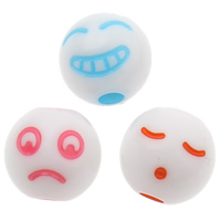 Solid Color Acrylic Beads, Round, mixed, 8x8mm, Hole:Approx 1mm, Approx 1800PCs/Bag, Sold By Bag