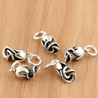 Thailand Sterling Silver Pendants, Flower, 5x16.6mm, Hole:Approx 3.5mm, 5PCs/Bag, Sold By Bag