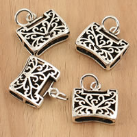 Thailand Sterling Silver Pendants, Lock, hollow, 14.50x18.30x5mm, Hole:Approx 3.5mm, 5PCs/Bag, Sold By Bag