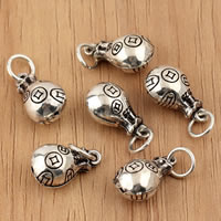 Thailand Sterling Silver Pendants, Money Bag, 8x17mm, Hole:Approx 3.5mm, 10PCs/Bag, Sold By Bag