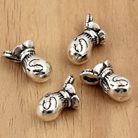 Thailand Sterling Silver Pendants, Money Bag, 7x12.8mm, Hole:Approx 2mm, 5PCs/Bag, Sold By Bag