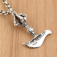 Thailand Sterling Silver Pendants, Sword, 24x40mm, Hole:Approx 5mm, Sold By PC