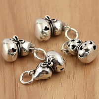 Thailand Sterling Silver Pendants, Calabash, hollow, 10x14mm, Hole:Approx 3.5mm, 3PCs/Bag, Sold By Bag