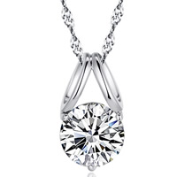 Cubic Zirconia Pendant, 925 Sterling Silver, platinum plated, with cubic zirconia & faceted, 13x7mm, Hole:Approx 3-5mm, 5PCs/Bag, Sold By Bag