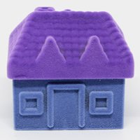 Velveteen Single Ring Box with Cardboard House two tone 50x45x45mm 20PCs/Bag