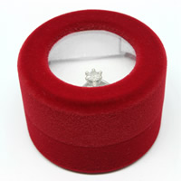 Velveteen Single Ring Box with Cardboard Column red 48x48x32mm 20PCs/Bag