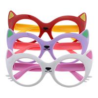 канифоль Оправа для очков, Кошка, для детей, Много цветов для выбора, 137x58x4mm, 12mm, отверстие:Приблизительно 121mm, 5Ящики/Лот, 12ПК/Box, продается Лот