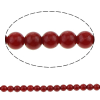 Natural Coral Beads Round red 3mm Hole:Approx 0.8mm Length:Approx 16 Inch 10Strands/Lot Approx 40PCs/Strand