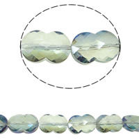 Imitation CRYSTALLIZED™ Element Crystal Beads, Calabash, colorful plated, faceted & imitation CRYSTALLIZED™ element crystal, Chrysolite AB, 12x18mm, Hole:Approx 1mm, Approx 35PCs/Strand, Sold Per Approx 14 Inch Strand