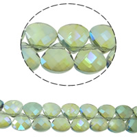 Imitation CRYSTALLIZED™ Element Crystal Beads, Teardrop, colorful plated, different size for choice & faceted & imitation CRYSTALLIZED™ element crystal, Chrysolite AB, Hole:Approx 1mm, Sold Per Approx 14 Inch Strand