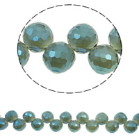 Imitation CRYSTALLIZED™ Element Crystal Beads, Round, colorful plated, different size for choice & faceted & imitation CRYSTALLIZED™ element crystal, Aquamarine AB, Hole:Approx 1mm, Approx 100PCs/Strand, Sold Per Approx 15.5 Inch Strand