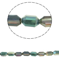 Imitation CRYSTALLIZED™ Element Crystal Beads, Double Cone, colorful plated, different size for choice & faceted & imitation CRYSTALLIZED™ element crystal, Chrysolite AB, Hole:Approx 1mm, Sold Per Approx 15.5 Inch Strand