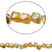 Imitation CRYSTALLIZED™ Element Crystal Beads, colorful plated, different size for choice & faceted & imitation CRYSTALLIZED™ element crystal, Smoked Topaz, Hole:Approx 1mm, Sold Per Approx 15.5 Inch Strand