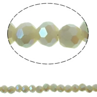 Imitation CRYSTALLIZED™ Element Crystal Beads, Round, colorful plated, faceted & imitation CRYSTALLIZED™ element crystal, Sand Opal, 3mm, Hole:Approx 1mm, Approx 150PCs/Strand, Sold Per Approx 15.5 Inch Strand