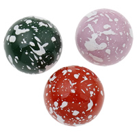 Painted Acrylic Beads, Round, more colors for choice, 22mm, Hole:Approx 2mm, Approx 80PCs/Bag, Sold By Bag