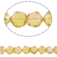 Imitation CRYSTALLIZED™ Element Crystal Beads, Flower, colorful plated, different size for choice & faceted & imitation CRYSTALLIZED™ element crystal, Topaz, Hole:Approx 1.5mm, Sold Per Approx 15.5 Inch Strand