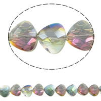 Imitation CRYSTALLIZED™ Element Crystal Beads, Triangle, colorful plated, different size for choice & faceted & imitation CRYSTALLIZED™ element crystal, Fern Green, Hole:Approx 1mm, Sold Per Approx 15.5 Inch Strand