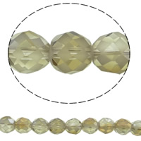 Imitation CRYSTALLIZED™ Element Crystal Beads, Round, colorful plated, different size for choice & faceted & imitation CRYSTALLIZED™ element crystal, Crystal Bronze Shade, Hole:Approx 1mm, Sold Per Approx 15.5 Inch Strand