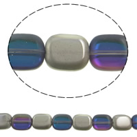 Imitation CRYSTALLIZED™ Element Crystal Beads, Pendular Lochrose, colorful plated, different size for choice & faceted & imitation CRYSTALLIZED™ element crystal, Violet, Hole:Approx 1mm, Approx 50PCs/Strand, Sold Per Approx 15.5 Inch Strand