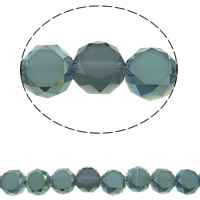 Imitation CRYSTALLIZED™ Element Crystal Beads, Flat Round, colorful plated, different size for choice & faceted & imitation CRYSTALLIZED™ element crystal, Hole:Approx 1mm, Sold Per Approx 15.5 Inch Strand