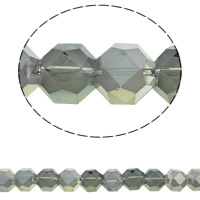 Imitation CRYSTALLIZED™ Element Crystal Beads, Octagon, colorful plated, different size for choice & faceted & imitation CRYSTALLIZED™ crystal, Crystal Bronze Shade, 12mm, Hole:Approx 1mm, Approx 50PCs/Strand, Sold Per Approx 18.5 Inch Strand