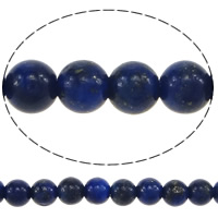 Natural Lapis Lazuli Beads, Round, 3.50mm, Hole:Approx 0.5mm, Length:Approx 16 Inch, 5Strands/Lot, Approx 122/Strand, Sold By Lot
