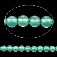Natural Green Agate Beads, Round, 2mm, Hole:Approx 0.2mm, Length:Approx 15.5 Inch, 10Strands/Lot, Approx 193/Strand, Sold By Lot