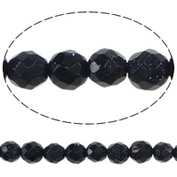 Natural Blue Goldstone Beads, Round, faceted, 3.50mm, Hole:Approx 0.3mm, Length:Approx 15 Inch, 5Strands/Lot, Approx 111/Strand, Sold By Lot