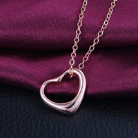 Brass Heart Pendants, real rose gold plated, different size for choice, nickel, lead & cadmium free, Hole:Approx 3mm, 50PCs/Lot, Sold By Lot