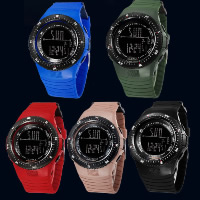 Unisex Wrist Watch, Silicone, with plastic dial, stainless steel buckle, LED & waterproof & luminated, more colors for choice, 49.97x49.97x16.6mm, 26.26mm, Length:Approx 10 Inch, 20PCs/Lot, Sold By Lot