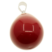 South Sea Shell Pendant with brass bail Teardrop with 925 logo red Hole:Approx 3.5x6mm 10PCs/Bag