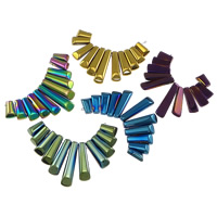 Crystal Graduated Pendant Beads, plated, mixed colors, 86x40x6mm, Hole:Approx 1mm, 10Sets/Lot, Sold By Lot