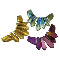Crystal Graduated Pendant Beads, plated, mixed colors, 92x43x6mm, Hole:Approx 1mm, 10Sets/Lot, Sold By Lot