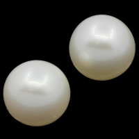 Koraliki z pereł hodowlanych słodkowodnych bez otworu, Perła naturalna słodkowodna, Koło, Naturalne, biały, klasy AAA, 11-12mm, sprzedane przez PC