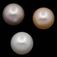 No Hole Cultured Freshwater Pearl Beads, Round, natural, more colors for choice, Grade AAA, 12-13mm, Sold By PC