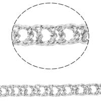 Łańcuch Lina ze stali nierdzewnej, Stal nierdzewna, lina łańcucha, oryginalny kolor, 9x7x1mm, 10m/torba, sprzedane przez torba