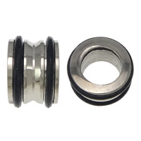 303 Stainless Steel Large Hole Bead, with Silicone, Column, 9x13mm, Hole:Approx 8mm, 50PCs/Lot, Sold By Lot