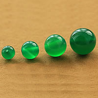 Natural Green Agate Beads, Round, different size for choice, Grade AAAAA, Sold By Lot