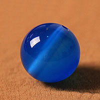 Natural Blue Agate Beads, Round, different size for choice, Grade AAAAA, Sold By Lot