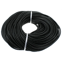 Cowhide Cord, black, 5mm, 100Yards/Lot, Sold By Lot