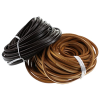 Cowhide Cord, more colors for choice, 9.5x6.5-7mm, 25m/Lot, Sold By Lot