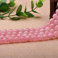 Naturliga rosenkvarts pärlor, Rose Quartz, Rund, olika storlek för val, Grade AAAAA, Säljs av Lot