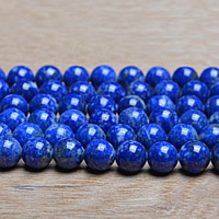 Natural Lapis Lazuli Beads, Round, different size for choice, Grade AAA, Sold By Lot