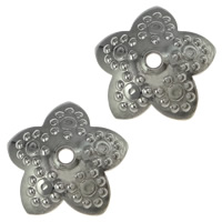 Stainless Steel Bead Cap, Flower, original color, 10.50x10.50x2.50mm, Hole:Approx 1mm, 1000PCs/Lot, Sold By Lot