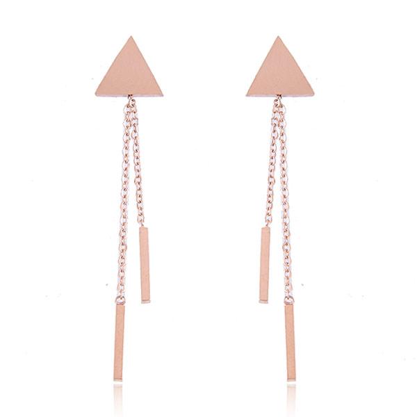 титан Сережка, нержавеющая сталь гвоздик, плакированный цветом розового золота, 52x10mm, продается PC
