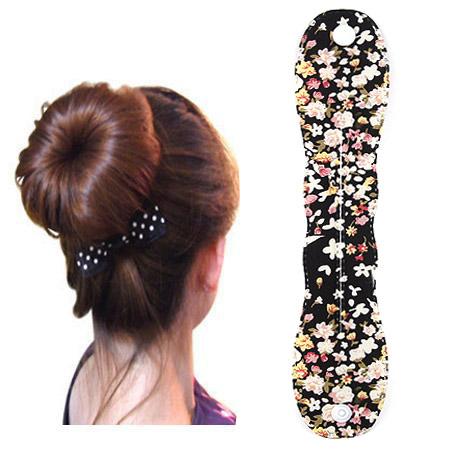 Твистер для создания красивой гульки, ткань, черный, 250-48mm, продается PC