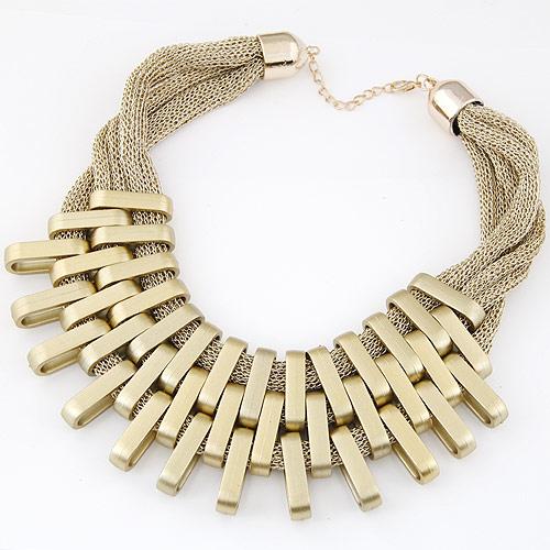 CCB Ожерелья, Пластик с медным покрытием, Другое покрытие, золотой, не содержит свинец и кадмий, 400mm, Продан через Приблизительно 15.75 дюймовый Strand