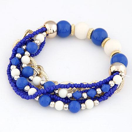 Акриловые браслеты, цинковый сплав, с Акрил, Другое покрытие, голубой, не содержит свинец и кадмий, 170mm, Продан через Приблизительно 6.69 дюймовый Strand
