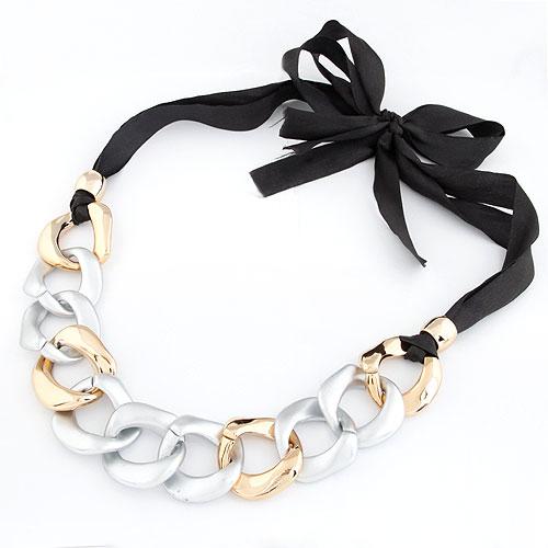 CCB Ожерелья, Пластик с медным покрытием, с Сатиновая лента, Другое покрытие, 800x300x40mm, Продан через Приблизительно 31.5 дюймовый Strand